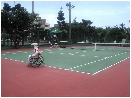 美崙網球場:身障者在網球運動
