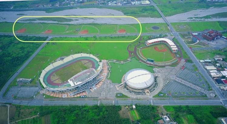 國福棒壘球場空拍圖