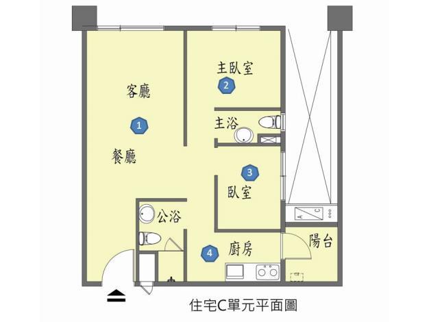 C單元房型