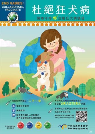 110年犬病疫苗施打宣導海報