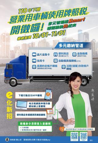 【中文版】110年下期營業用車輛牌照稅